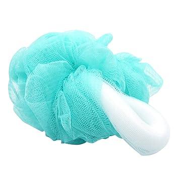 Kinepin Bath Large Mesh Loofah Pouf Shower Sponges, Blue Color