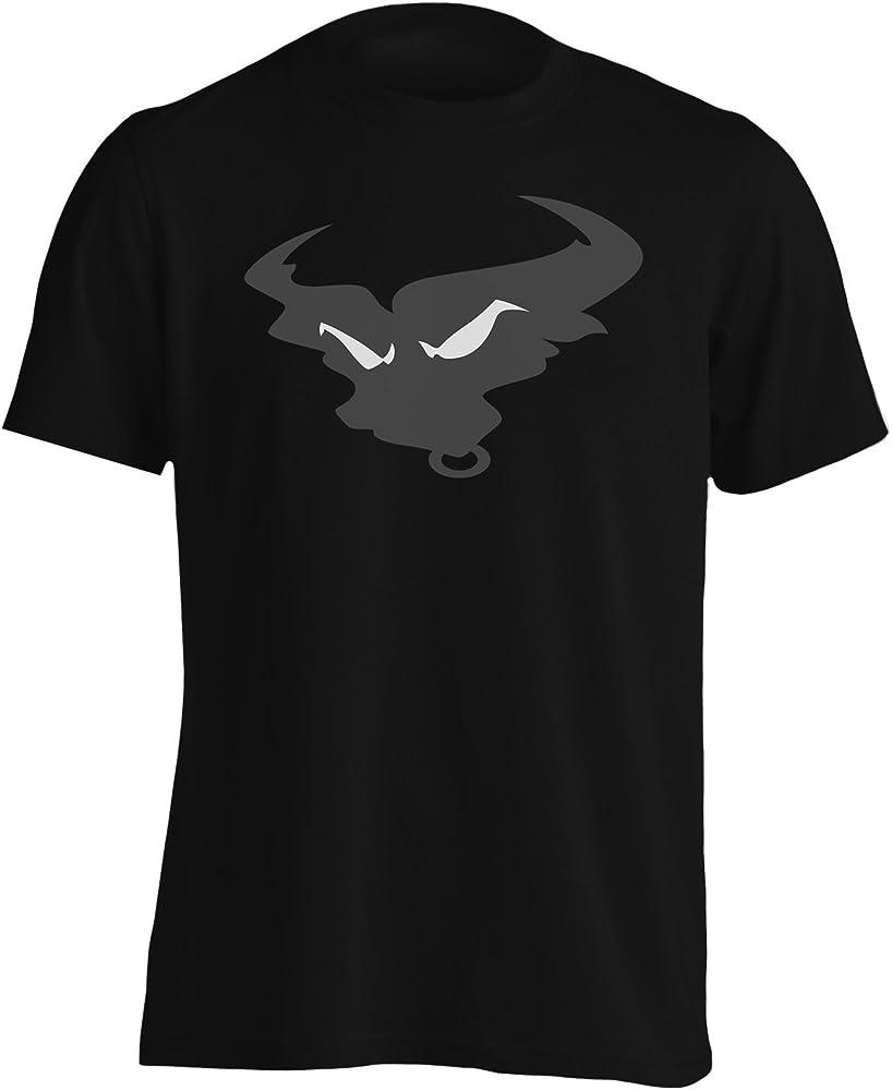 Nueva Silueta Cara De Toro Enojado Camiseta de los hombres i937m: Amazon.es: Ropa y accesorios