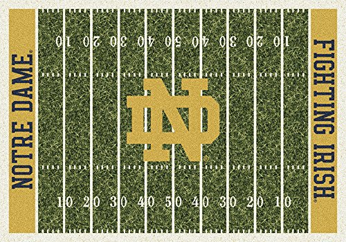 Notre Dame Carpet - Notre Dame Fighting Irish NCAA College Home Field Team Area Rug 5'4