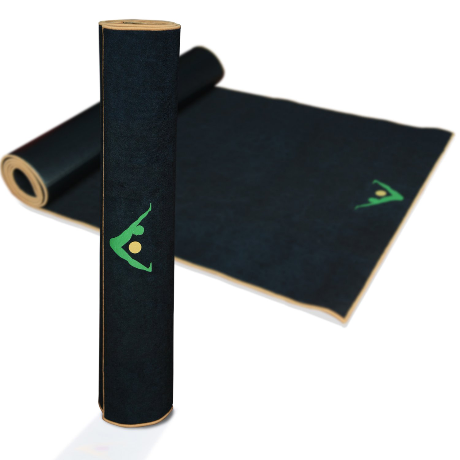 Aurorae Synergy 2 in 1 Yoga Mat; with Integrated Non-Slip Microfiber Towel