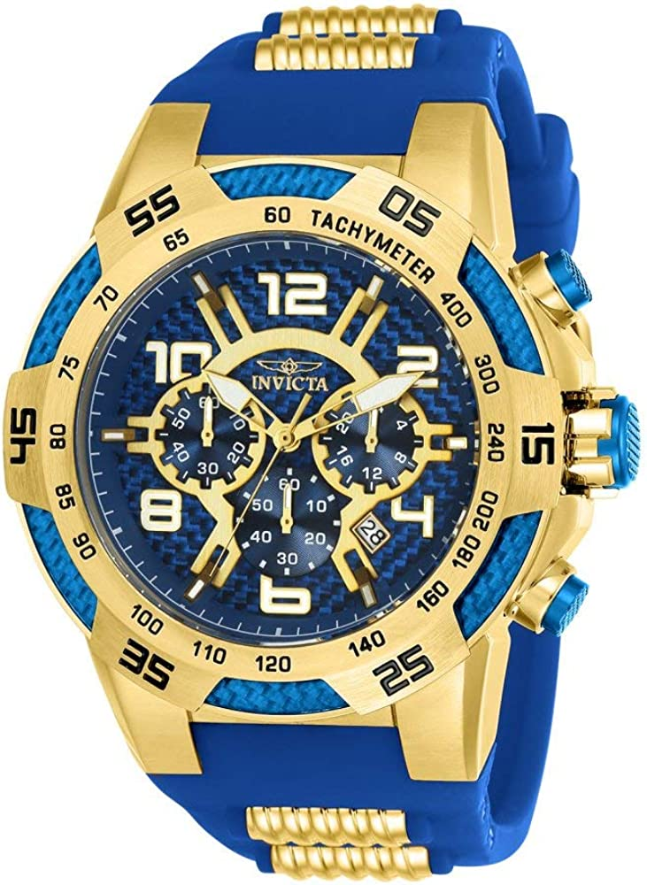 Invicta Men s Speedway Stainless Steel Quartz Watch with Silicone Strap, Two Tone, 30 Model 24232