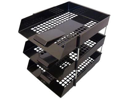 6 x archivador plástico color negro de almacenamiento con ...