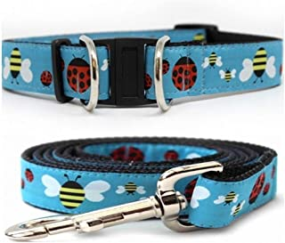 product image for Diva-Dog 'Lady Bugs & Bumble Bees' Dog Collar with Safety Buckle, Matching Leash Available - Teacup, XS/S, M/L, XL