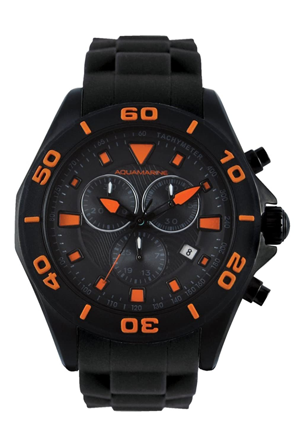 Aquamarine Herrenuhr Chrono schwarz-orange – Kollektion Summer 2016