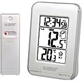 La Crosse Technology WS6810 Station de températures intérieure/extérieure -Blanc et Argent