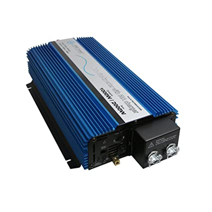 AIMS Power 1000 Watt Pure Sine Inverter with Selectable 25/55 Amp Charger &  Automatic Transfer Switch