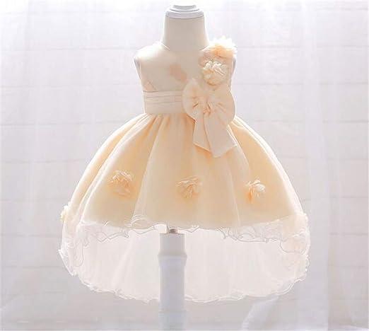 Vestido de niña, 0-2 años de Edad, Flor del bebé Bordado de ...
