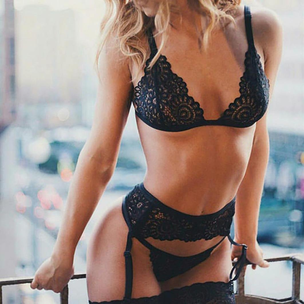 b80afa8f7f VASSARETTE Women Sexy Halter Babydoll Strappy Lace Lingerie