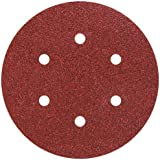 Wolfcraft 1838000 12 Disques Abrasifs Auto-agrippants Ø 150 Mm, Perforés, Corindon Grains 60, 120, 240
