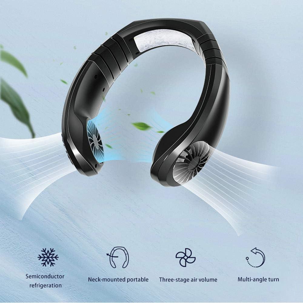 Ventilador de cuello colgante, enfriador de aire USB Micro ...