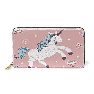 471cc67a780f Magic Evening Unicorn Wallet for Women Leather Zipper Phone Coin ...