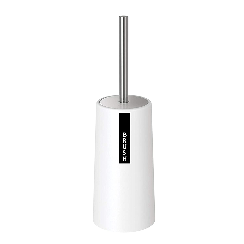 GDORUN DIRECT Toilettenbürste Klobürste mit Halter WC-Bürste Modernes Design Längere Bürste mit hygienischem Behälter Verbesserneder Typ Weiß (Typ 1)
