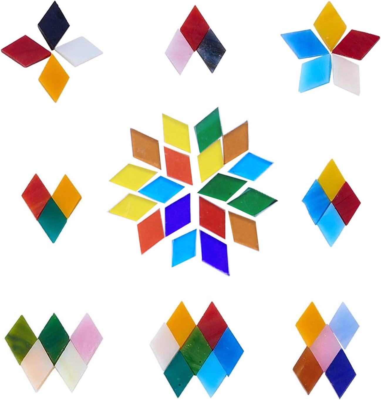 Allazone Mosaique Loisir Creatif Mosa/ïque de Multicolore Morceaux de Verre de Mosa/ïque pour La D/écoration /à La Maison 10 x 10MM Carr/é Cr/éation de Bricolage