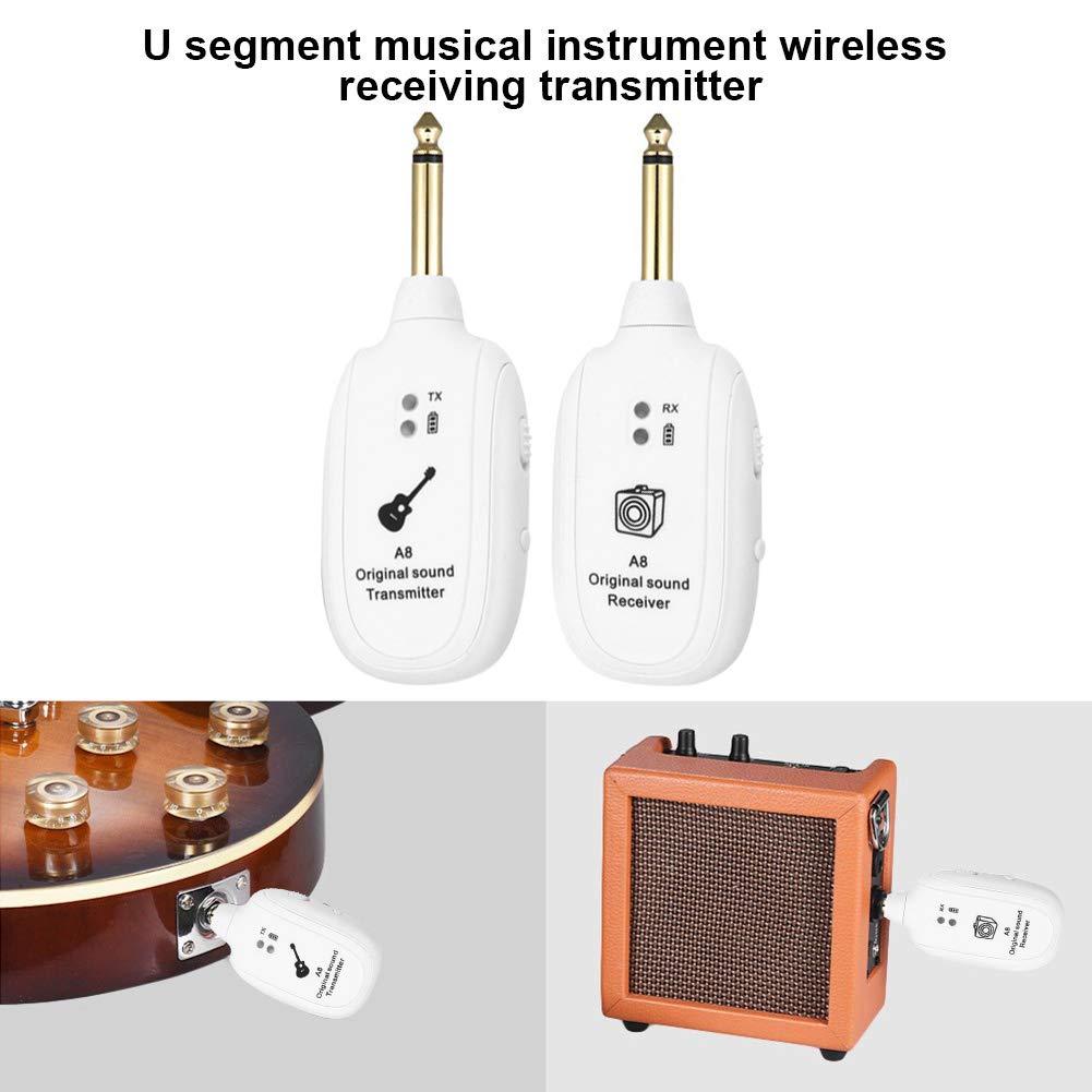 Coomir Receptor del transmisor del Sistema inal/ámbrico de la Guitarra de UHF 730MHz para el Instrumento Musical bajo de la Guitarra el/éctrica