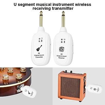 lzndeal UHF 730 MHz Guitarra Wireless Sistema transmisor receptor para guitarra eléctrica Bass Instrumento Musical: Amazon.es: Hogar