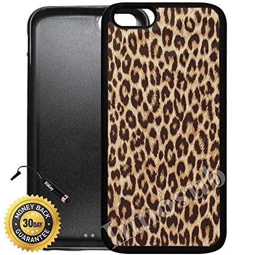 Custom iPhone 6 Plus Case (Cheetah Print) Edge-to-Edge Rubber Black Cover with Shock and Scratch Protection | Lightweight, Ultra-Slim | Includes Stylus Pen by Innosub by Innosub