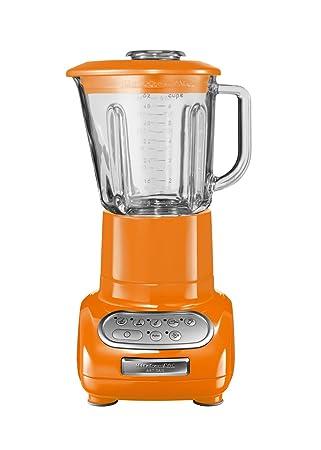 KitchenAid Artisan, Vidrio, Acero inoxidable, Naranja, 220 - Licuadora: Amazon.es: Hogar