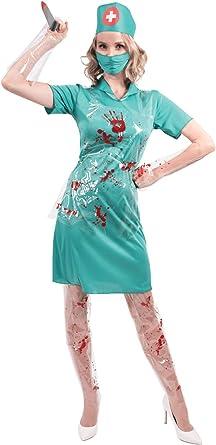 ORION COSTUMES Disfraz Uniforme de Enfermera Sangrienta Doctora ...