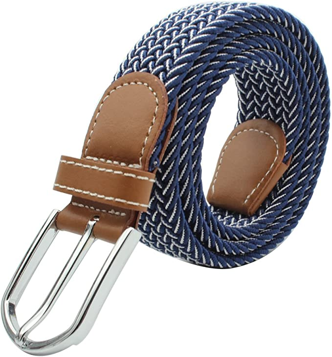 Elastischer Taillen Gürtel Stretchgürtel Flechtgürtel mit Metall Schnalle,