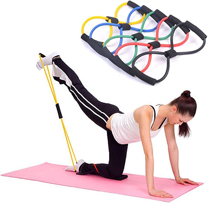 4PCS Useful Fitness Equipment Tube Workout Exercise Elastic Resistance Band For