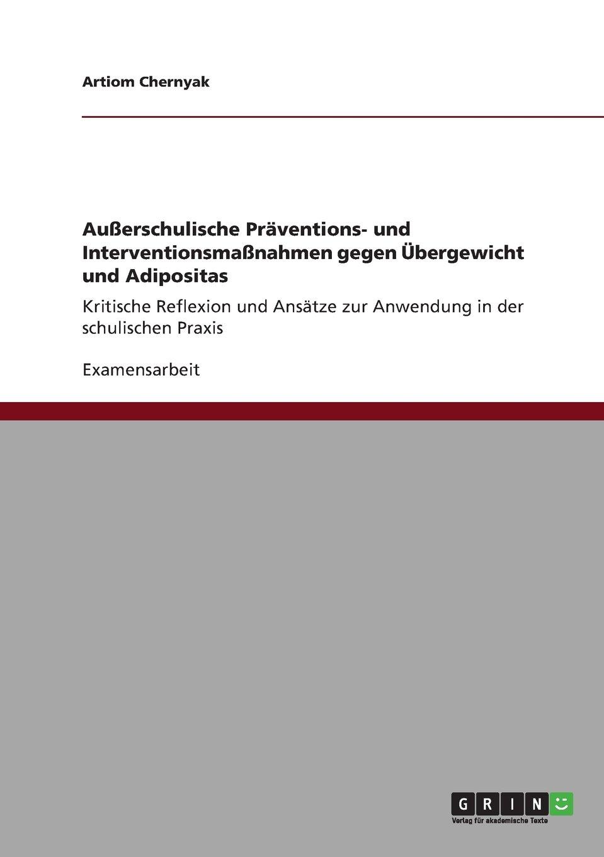 Download Außerschulische Präventions- und Interventionsmaßnahmen  gegen Übergewicht und Adipositas (German Edition) ebook