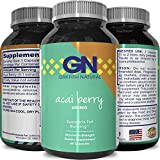 Acai Berry Capsules Antioxidant Supplement for Men and Women – Weight Loss Support & Full Body Cleansing & Detox – Pure Vitamins + Minerals + Antioxidants for Energy & Digestion