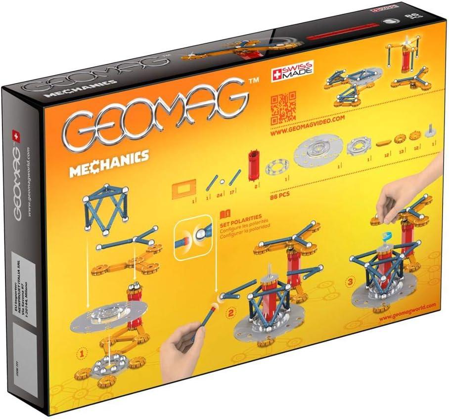 Geomag Mechanics 721 Juego de construcción de 86 piezas, Multicolor: Amazon.es: Juguetes y juegos