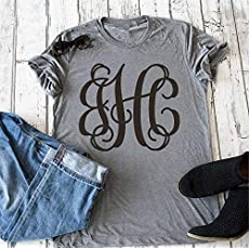 Amazon Personalized Initial Sweatshirt Womens Monogrammed One