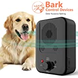 Anti Barking Device,Newly Outdoor Sonic Dog Bark Deterrent with 3 Adjustable Modes - No Barking, Waterproof, Up to 50…