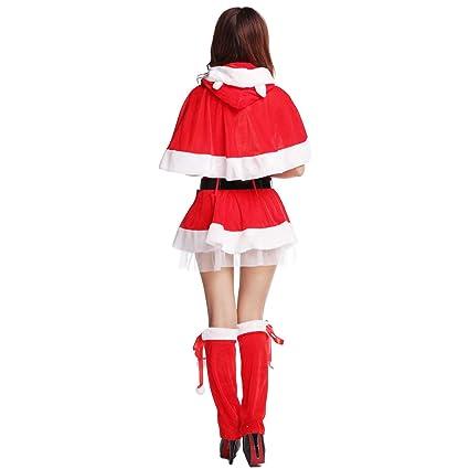 Amazon.com: Christmas Santa Claus Costume for Women Sexy ...