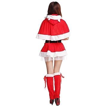 Amazon.com: Disfraz de Papá Noel para mujer, sexy, Fancy ...