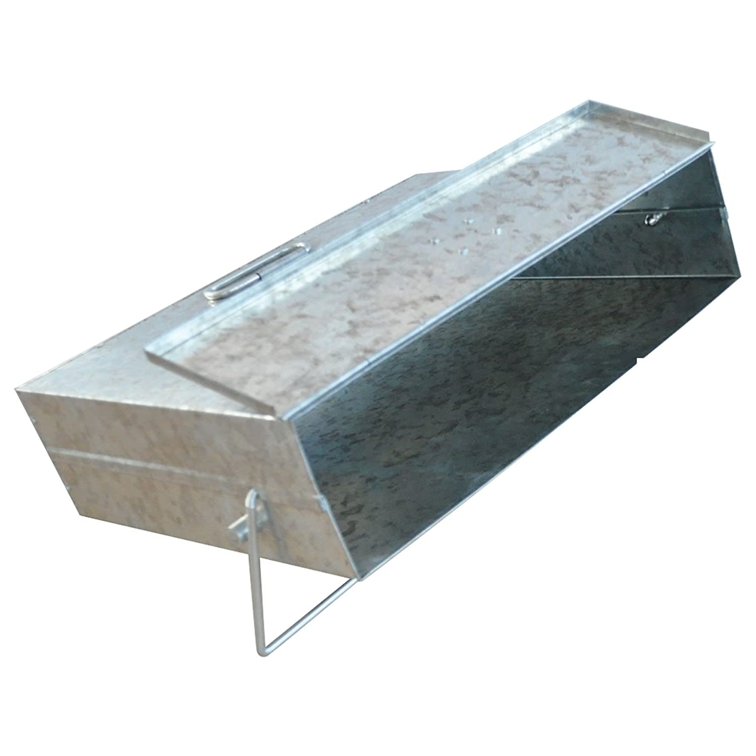 New De Vielle Galvanised Hot & Cold Fireplace Ash Carrier Box Tidy Tippy Metal for Stove Coal Wood Fire