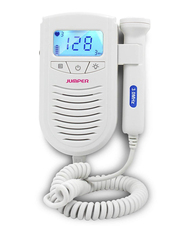 Yahpy Fetal Doppler Ultrasound Baby Heartbeat Detector Home Pregnant Doppler Baby Heart Rate Monitor Pocket Doppler 3.0MHz