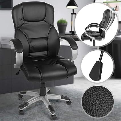 Miadomodo Sedia ufficio girevole poltrona scrivania ergonomica altezza regolabile 107 117 cm