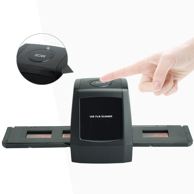 DIGITNOW! Digital USB Escáner Convertidor, Alta resolución Escáner de película para 35mm Negativos y Diapositivas M123