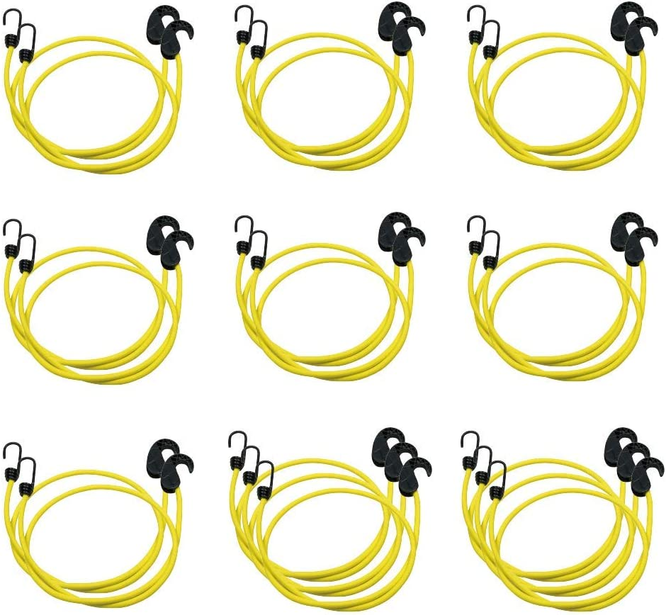 20-Piece Black Basics Adjustable 36-Inch Bungee Cords 2-Pack