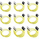 AmazonBasics Adjustable 36-Inch Bungee Cords, Yellow, 2-Pack (20-Piece)