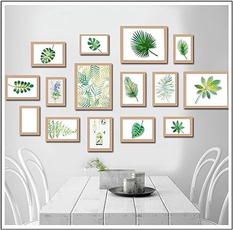Galerie de Photos Bois Blanc-Noir Plaques de verre 10 Photos Cadre Photo Collage des images