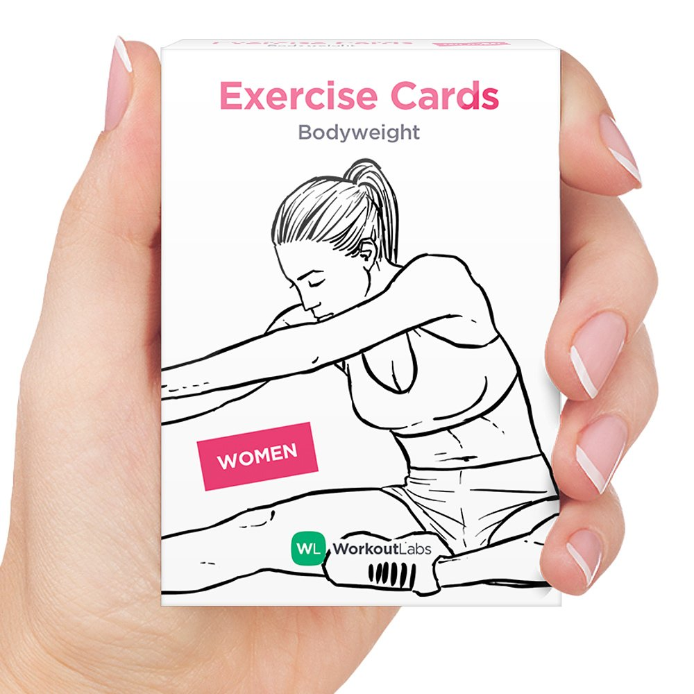 WorkoutLabs Tarjetas visuales de Entrenamiento de Peso Corporal Premium para Entrenamientos en casa sin Equipo para Mujer Blanco: Amazon.es: Deportes y aire ...