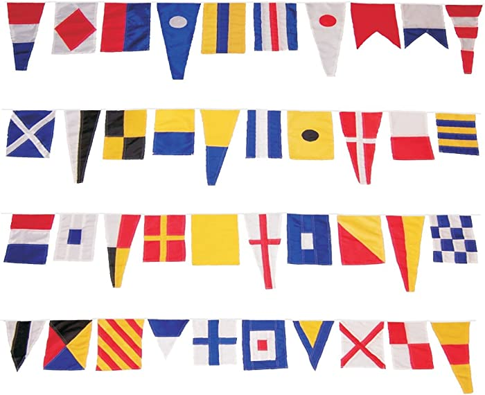 In the Breeze Maritime Signal Flags - 40 Different Decorative Flags - Over 40 Feet Long - Easy to Display