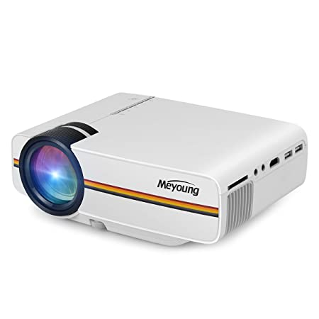 Meyoung Projector 1080P 1200 for Outdoor Indoor Movie, Support Blu-ray DVD Player, Tablets, and HD Games
