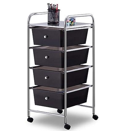 Amazoncom Giantex 4 Drawers Cart Storage Bin Organizer Rolling