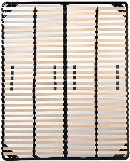 Paolo Collaner Somier de Lamas Resistente, firmeza Ajustable, 180 x 200 cm, Color Negro