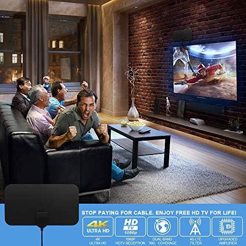 SUBSTU Antena TV Interior, Ultra Plana Antena TV,Antena de ...