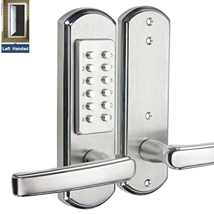 Hangcheng Left Handed Door Keyless Entry Door Lock Mechanical