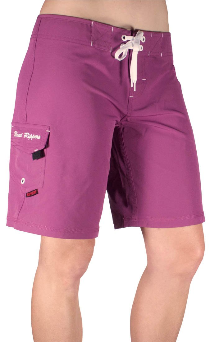 Maui Rippers Women's Board Short Long 9'' Stretch (18, Fuschia)