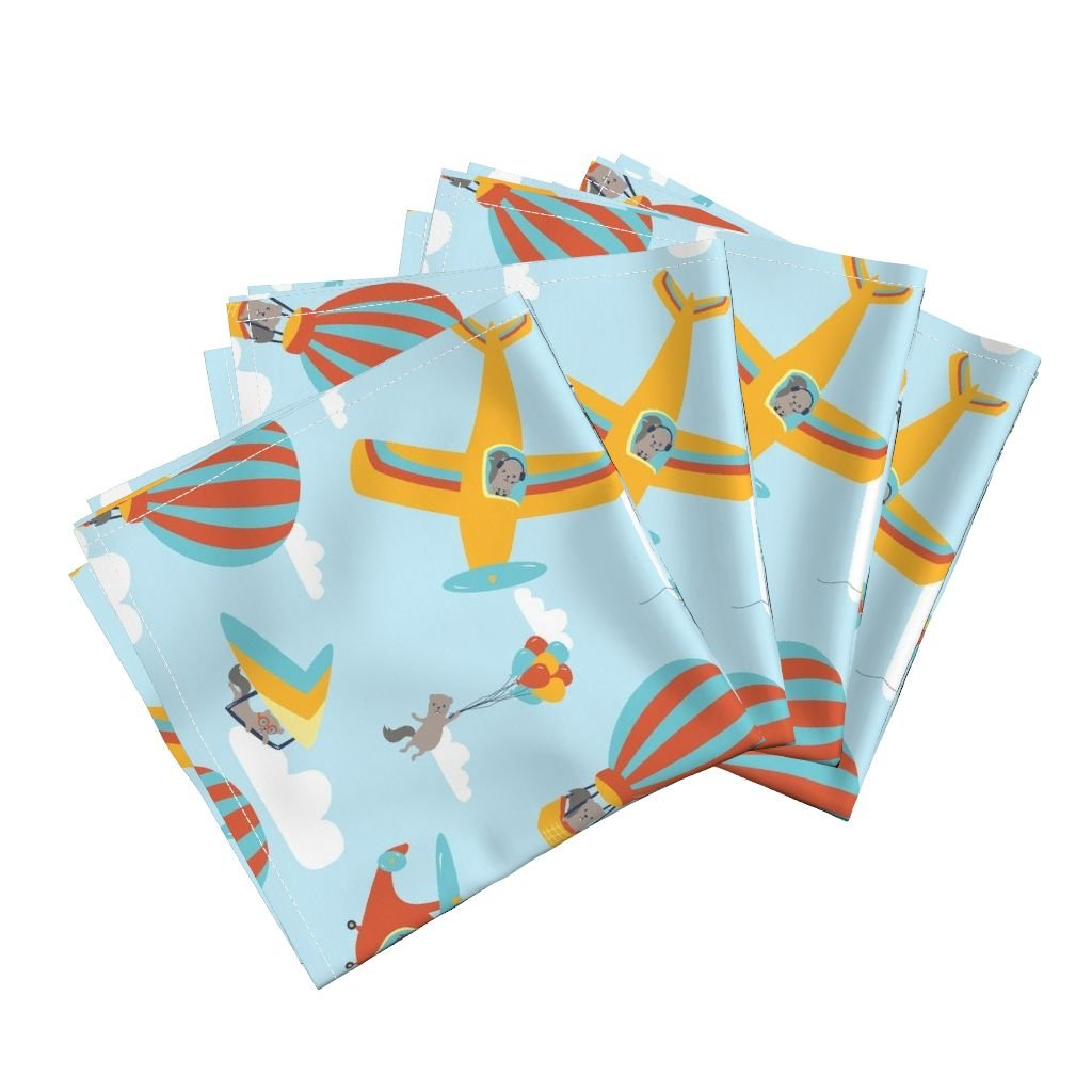 Amazon.com: Flying Linen Cotton Dinner Napkins Flying Squirrels On ...