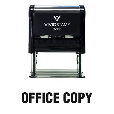 Office Copy Self Inking Rubber Stamp (Black Ink) - Large: Office Products