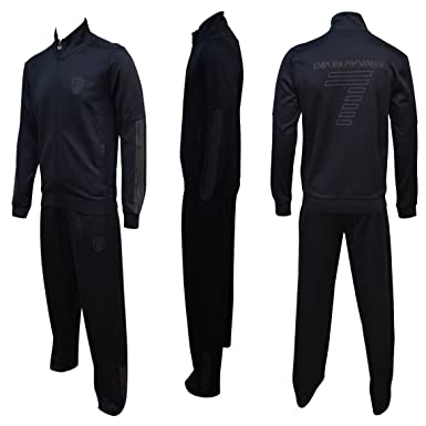 Emporio Armani EA7 darkslate Zug Soccer Herren Trainingsanzug Schwitzanzug  Gr. xl, Schwarz - Dark 7e7f49e2f8
