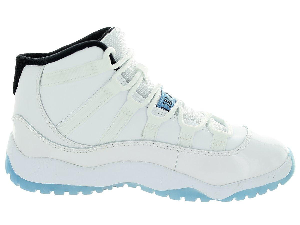 low priced 98b1f b7057 Amazon.com   Jordan Nike Kids 11 Retro Bp White Legend Blue Black  Basketball Shoe 12.5 Kids US   Basketball